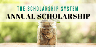 The Scholarship System Annual Scholarship Opportunity