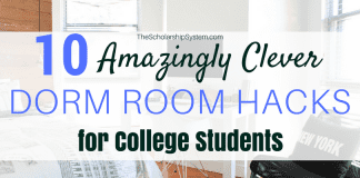 10 Amazingly Clever Dorm Room Hacks for College Students