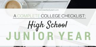 A Complete College Prep Checklist: High School Junior Year