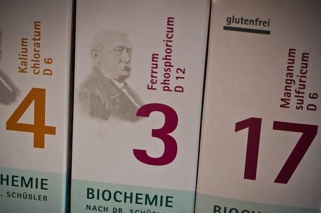 Las 12 Sales de Schüssler y sus propiedades