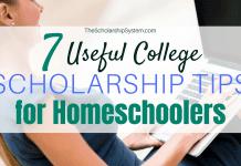 7 Useful College Scholarship Tips for Homeschoolers