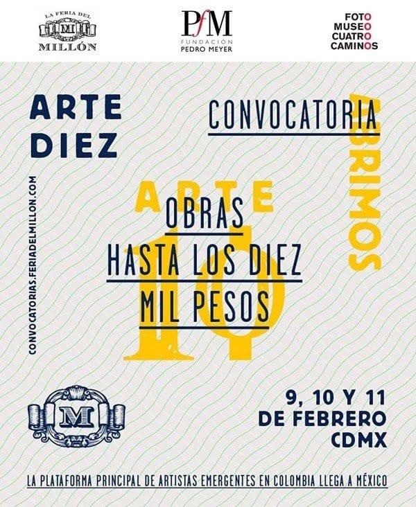 Convocatoria Arte Diez para artistas emergentes