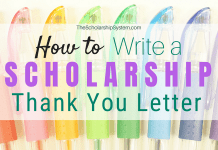 How to Write a Scholarship Thank You Letter (Propina a Template)