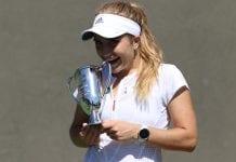 Estela Pérez, tenista becada en U.S.A., ganadora del Oracle ITA Masters