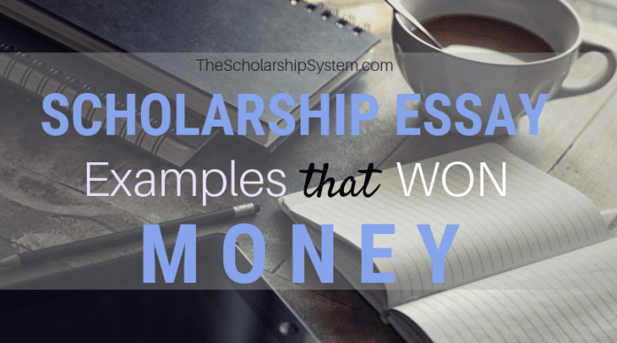Scholarship Essay Examples That Won Loan