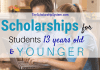 Scholarships For Trainees 13 Years Of Ages & & Younger
