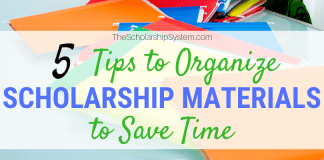 5 Tips to Arrange Scholarship Products to Conserve Time
