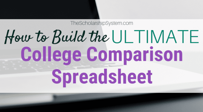How to Develop the Ultimate College Contrast Spreadsheet