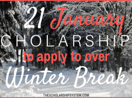 21 January Scholarships To Use To Over Winter Season Break
