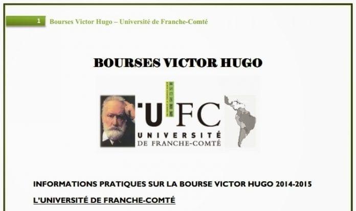 Becas Víctor Hugo posgrado en Francia para latinos.