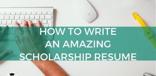 How to Compose a Fantastic Scholarship Resume