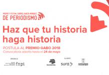 Convocatoria del Premio Gabriel García Márquez de periodismo