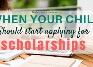 When Your Kid Ought To Start Making An Application For Scholarships