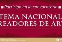 Sistema Nacional de Creadores de Arte, convocatoria de ingreso.