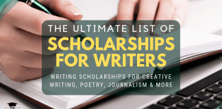 The Ultimate List of Scholarships for Writers