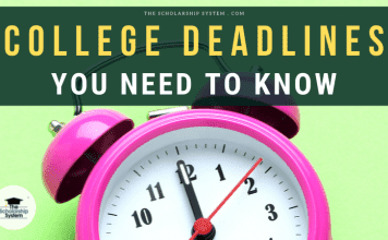 College Deadlines You Required to Know