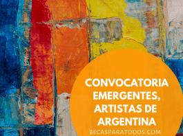 Convocatoria Emergentes para artistas argentinos, CEC