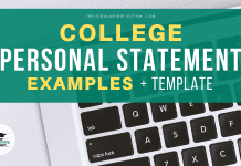 College Personal Declaration Examples + Design Template