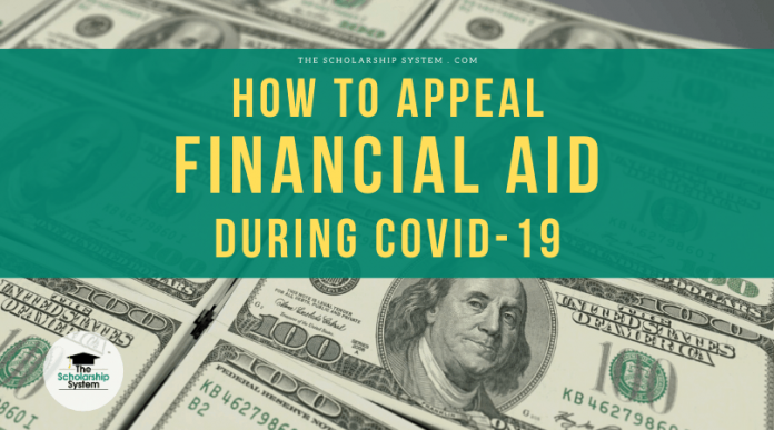 How to Appeal Financial Assistance Fee to COVID-19