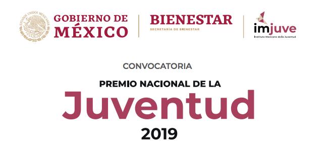 Convocatoria Premio Nacional de la Juventud, México.