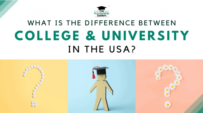 What's the Distinction In Between Institution Of Higher Learning in the U.S.A.?