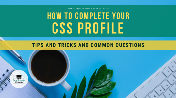 How to Total your CSS Profile: Idea and Typical Concerns