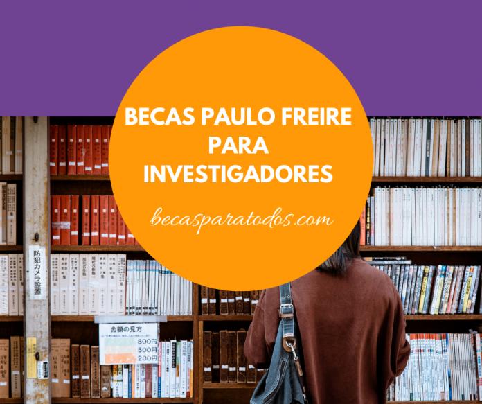Becas Paulo Freire de investigación, todas las áreas
