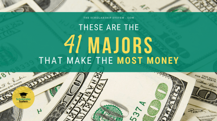 These Are the 41 Majors That Make one of the most Cash