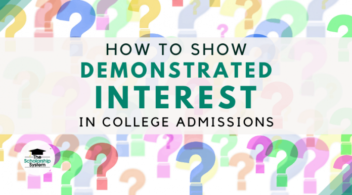 How to Program Demonstrated Interest in College Admissions