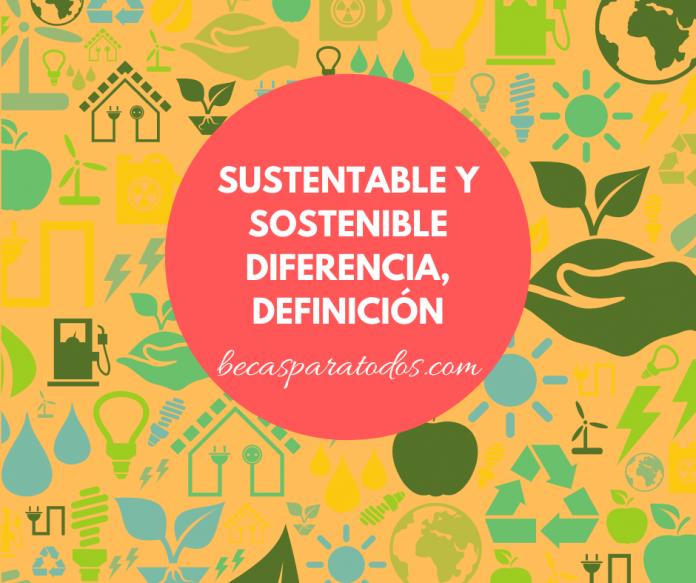 Sustentable y sostenible