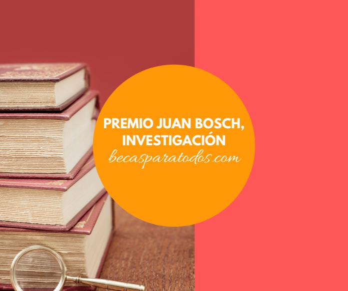 Premio Juan Bosch para investigación en ciencias sociales